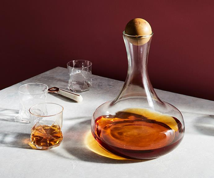 "**Glass bottles with wood stoppers, wine, $59, [West Elm](https://www.westelm.com.au/glass-bottles-with-wood-stoppers-c434?quantity=1&attribute_1=Wine|target=""_blank""