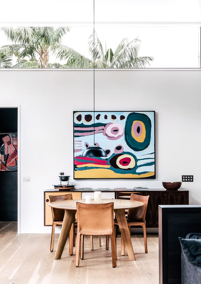 Bold artworks are a feature of Island House.