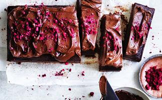 Chocolate and buttermilk slab cake