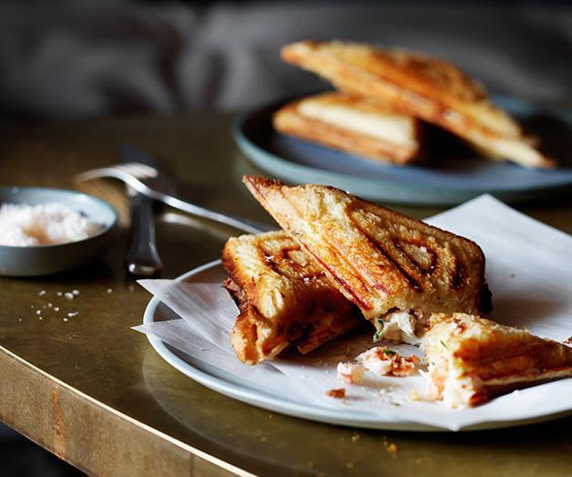"**[Yabby jaffles](https://www.gourmettraveller.com.au/recipes/chefs-recipes/yabby-jaffles-8280|target=""_blank"")**"