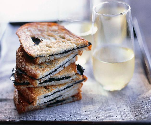 """**[Toasted truffle sandwiches](https://www.gourmettraveller.com.au/recipes/browse-all/toasted-truffle-sandwiches-9707