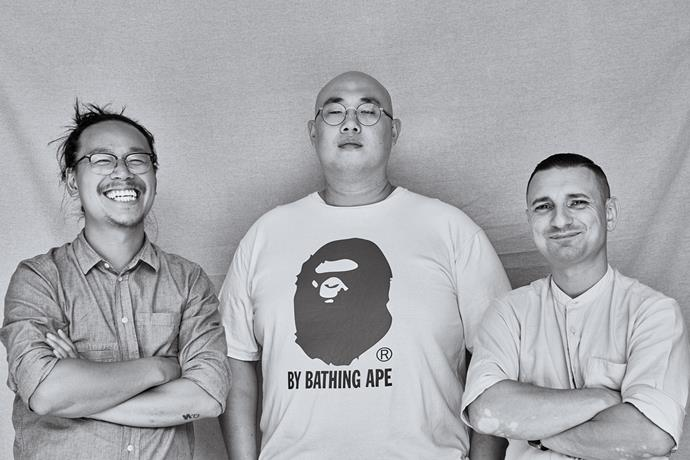Michael Chiem (from left), Sam Young and Alessandro Ponzoni.