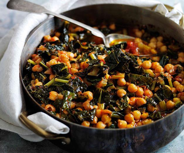 """[**Slow-braised chickpeas with cavolo nero**](https://www.gourmettraveller.com.au/recipes/browse-all/slow-braised-chickpeas-with-cavolo-nero-11656 target=""""_blank"""")"""