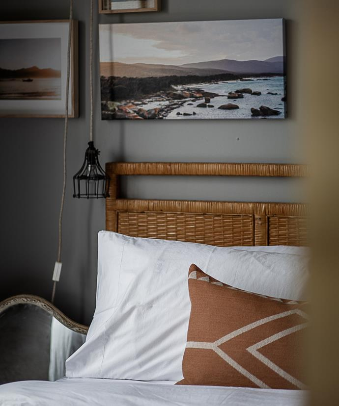 One of the bedrooms at Wombat Lodge.