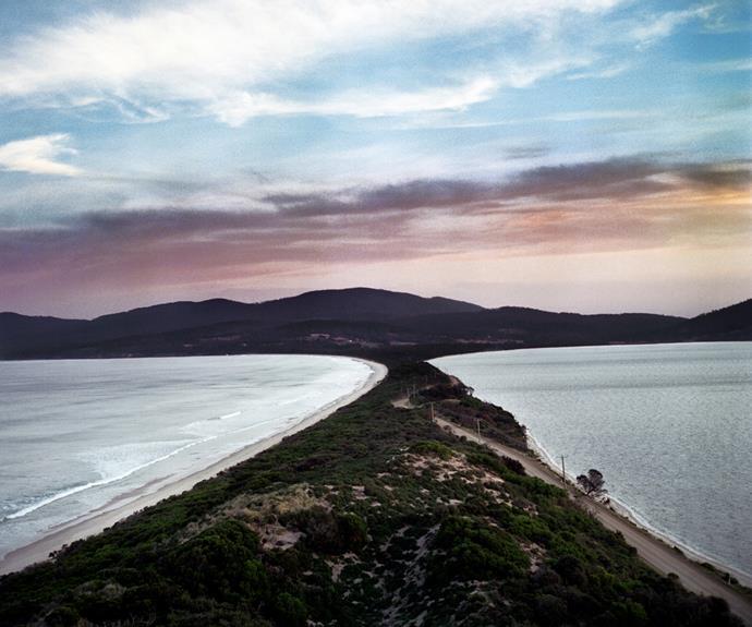 Bruny Island at sunset.
