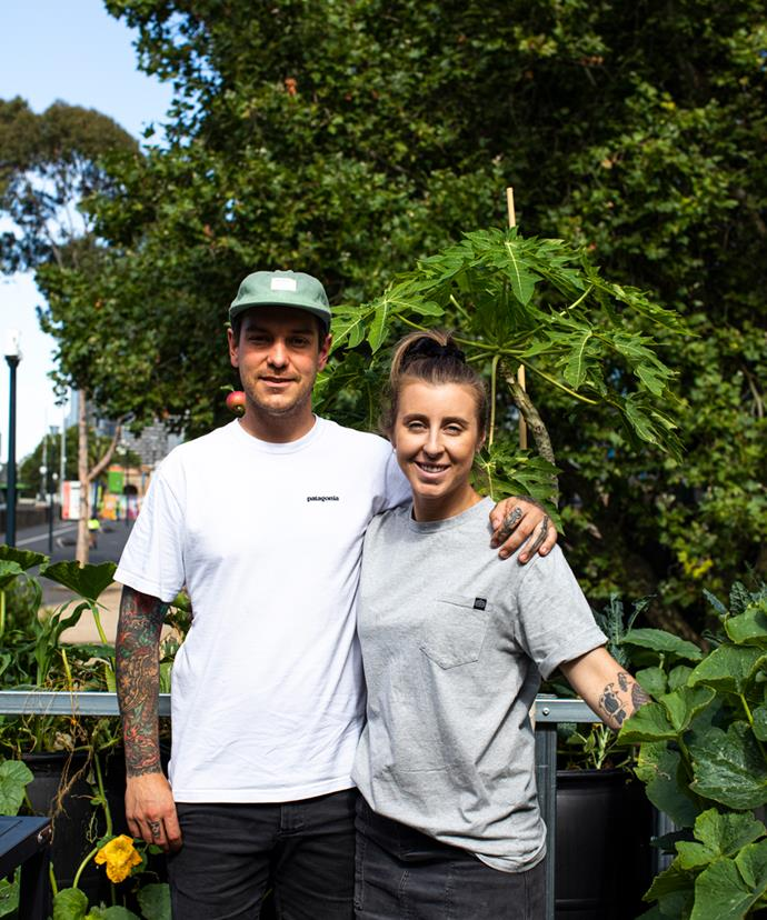 Chefs Matt Stone and Jo Barrett.