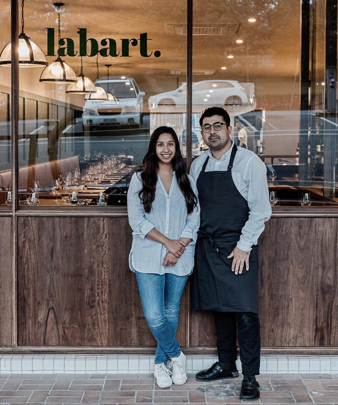 Karla Munoz Labart (co-owner) and Alex Munoz Labart (co-owner and head chef) of Labart.
