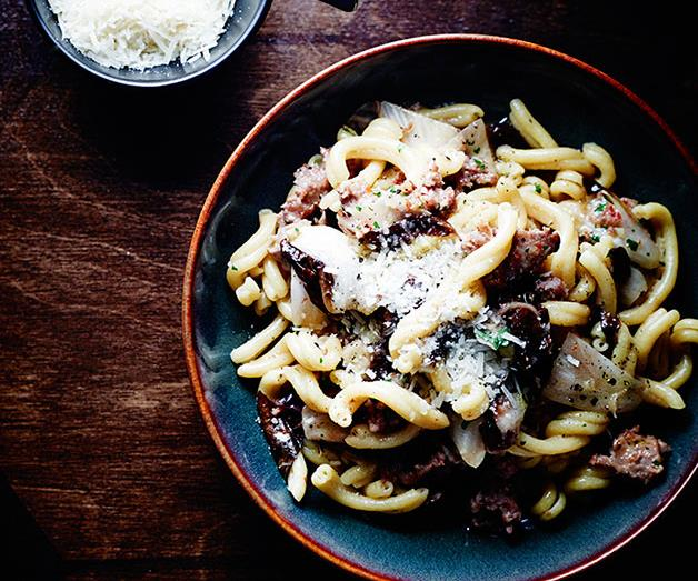 """**[Tipo 00's casarecce with pork and fennel sausage ragù](https://www.gourmettraveller.com.au/recipes/chefs-recipes/casarecce-with-pork-and-fennel-sausage-ragu-8410