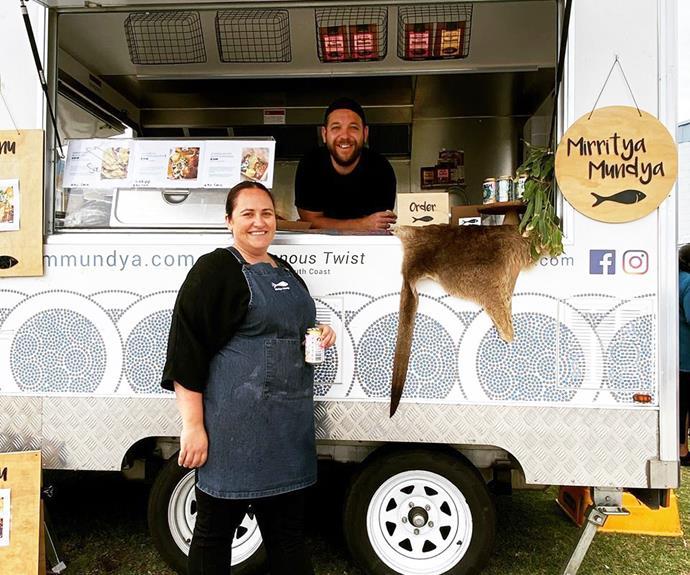 Dwayne & Amelia Bannon-Harrison with their Mirritya Mundya food truck.