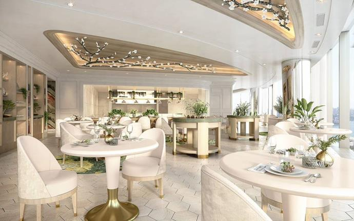 A render of the dining room at Sydney's Oncore.