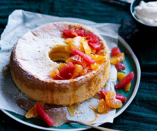 """**[Pauline Kwong's chiffon cake with citrus and ginger](https://www.gourmettraveller.com.au/recipes/chefs-recipes/pauline-kwongs-chiffon-cake-with-citrus-and-ginger-8618