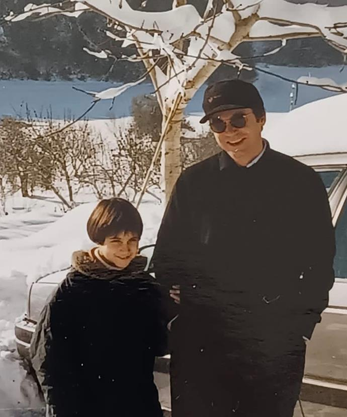 A young Federica Andrisani with her father Giuseppe.