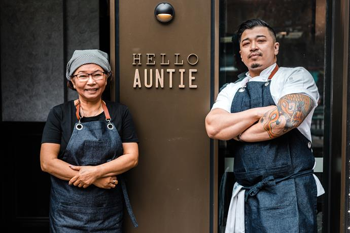 Hello Auntie chef and owner Cuong Nguyen (right) with his mother Thi Da Tran.