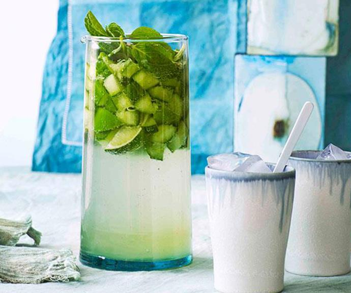 """**[Cucumber and gin punch](https://www.gourmettraveller.com.au/recipes/browse-all/cucumber-and-gin-punch-11116 target=""""_blank"""" rel=""""nofollow"""")**"""