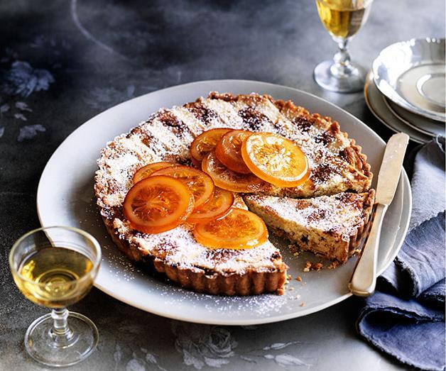 "**[Ricotta, candied orange and Marsala crostata](https://www.gourmettraveller.com.au/recipes/browse-all/ricotta-candied-orange-and-marsala-crostata-13953|target=""_blank"")**"