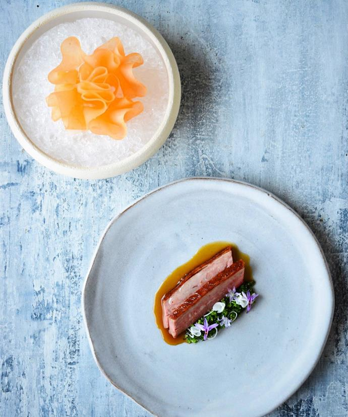Aged Great Ocean duck with ouster and rockmelon.