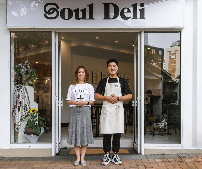 Illa Kim and Daero Lee, co-owners of Soul Deli in Sydney.