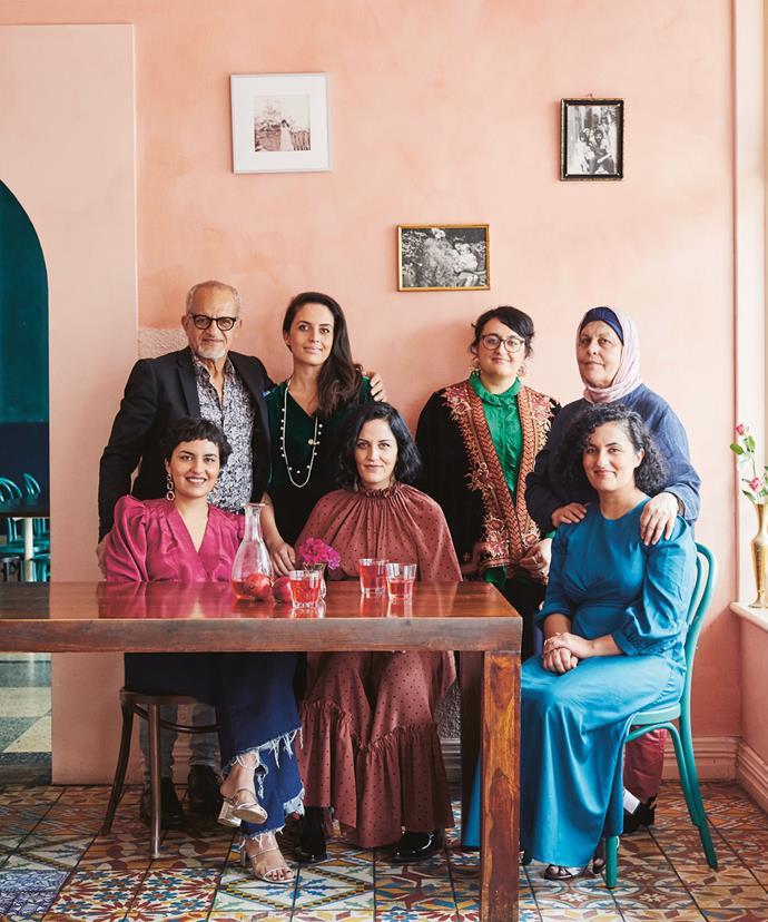 Durkhanai Ayubi (standing, second from left) with the Ayubi family.