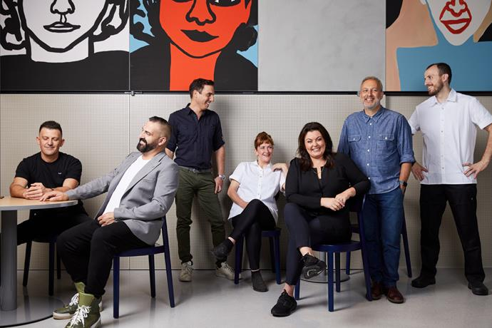 Karen Martini (seated in black), executive chef and co-owner of Hero.