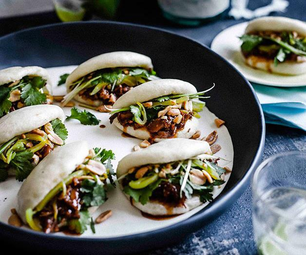 """[**Gua bao with braised pork ribs**](https://www.gourmettraveller.com.au/recipes/browse-all/gua-bao-with-braised-pork-ribs-11595