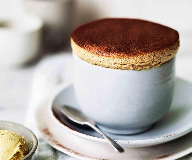 """**[Milk chocolate and date soufflés with caramelised walnut ice-cream](https://www.gourmettraveller.com.au/recipes/browse-all/milk-chocolate-and-date-souffles-with-caramelised-walnut-ice-cream-11320