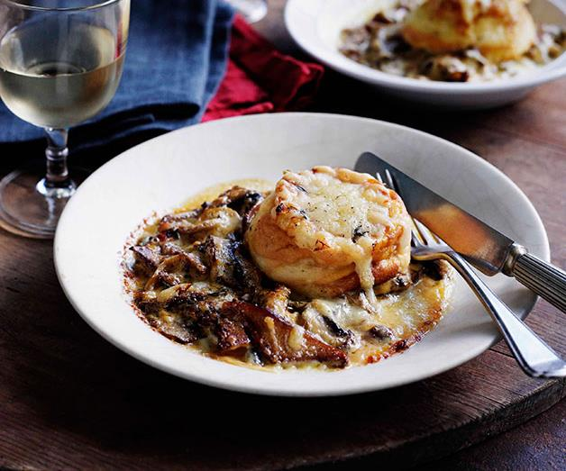 """[**Twice-cooked mushroom soufflé**](https://www.gourmettraveller.com.au/recipes/browse-all/twice-cooked-mushroom-souffle-10797