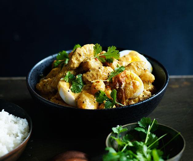 """**[Potato, coriander and egg curry](https://www.gourmettraveller.com.au/recipes/browse-all/potato-coriander-and-egg-curry-12035