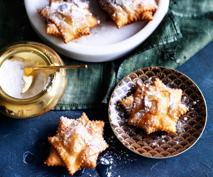 """**[Quince pastelitos](https://www.gourmettraveller.com.au/recipes/browse-all/quince-pastelitos-12566 target=""""_blank"""")**"""