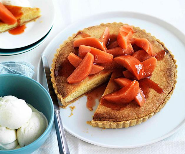 """[**Quince and frangipane tart**](https://www.gourmettraveller.com.au/recipes/chefs-recipes/quince-and-frangipane-tart-9021 target=""""_blank"""")"""