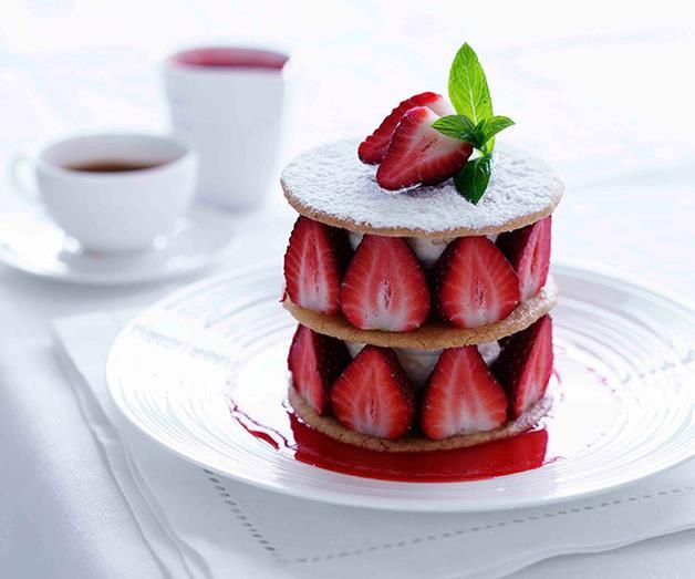 "[**Marco Pierre White's strawberry shortbread**](https://www.gourmettraveller.com.au/recipes/chefs-recipes/strawberry-shortbread-7830 target=""_blank"")"