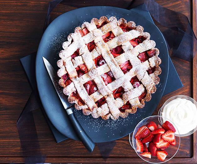 "[**Strawberry and rose hazelnut tart**](https://www.gourmettraveller.com.au/recipes/browse-all/strawberry-and-rose-hazelnut-tart-10643 target=""_blank"")"