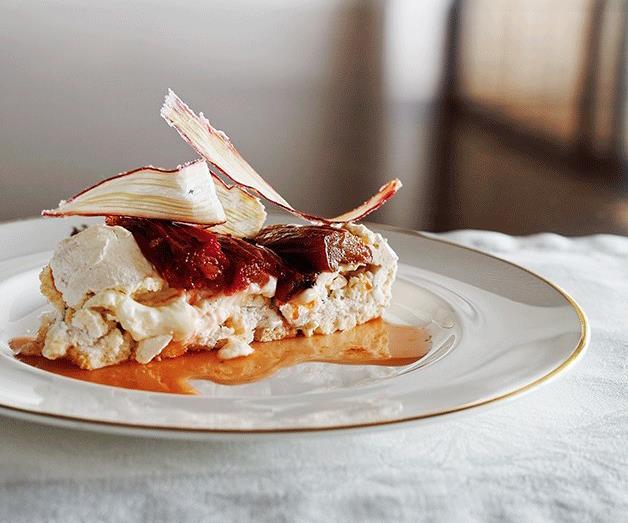 "[**Pepperberry pavlova with rhubarb**](https://www.gourmettraveller.com.au/recipes/chefs-recipes/pepperberry-pavlova-with-rhubarb-8503|target=""_blank"")"
