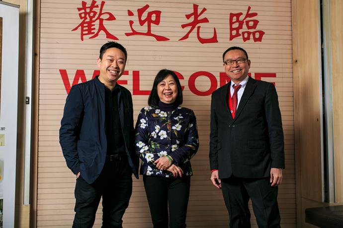 Billy, Linda and Eric Wong at Golden Century.