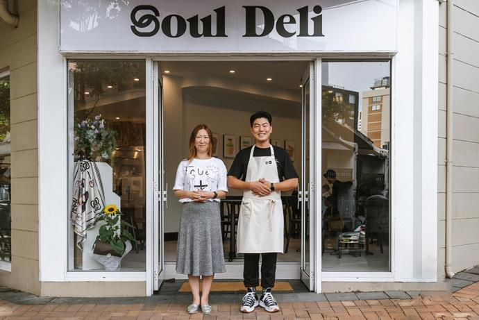 Illa Kim and Daero Lee outside Soul Deli, the café spin-off to their Sydney restaurant Soul Dining.