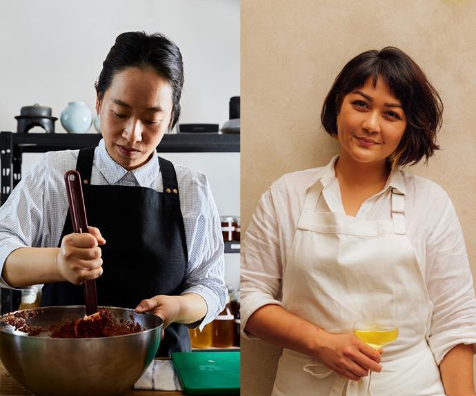 Best New Talent finalists Jung Eun Chae (Chae) and Rosheen Kaul (Etta).