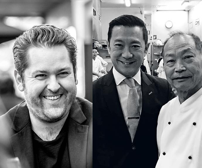 Restaurant Personality of the Year finalists Carlo Grossi (Grossi Florentino) and Jason Lui (Flower Drum, pictured with his father Anthony).