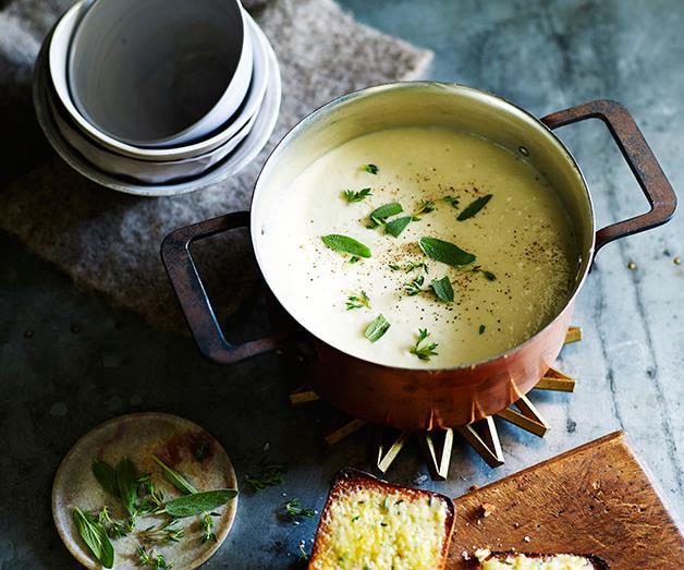 "**[A classic cauliflower soup](https://www.gourmettraveller.com.au/recipes/fast-recipes/cauliflower-soup-13481 target=""_blank"")**"