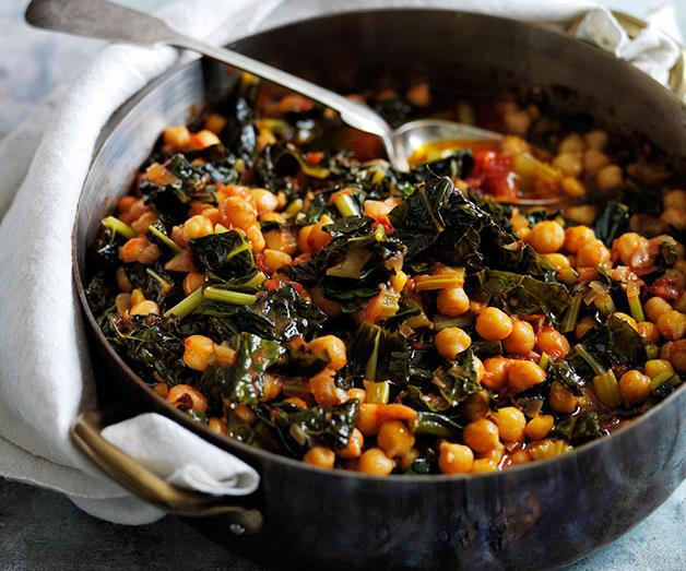 """**[Slow-braised chickpeas with cavolo nero](https://www.gourmettraveller.com.au/recipes/browse-all/slow-braised-chickpeas-with-cavolo-nero-11656 target=""""_blank"""")**"""