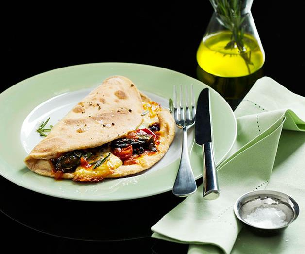 "**[Cavolo nero and Fontina piadina](http://www.gourmettraveller.com.au/recipes/browse-all/cavolo-nero-and-fontina-piadina-10516 target=""_blank"")**"