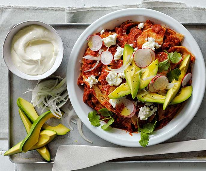 """**[Curtis Stone's chilaquiles](https://www.gourmettraveller.com.au/recipes/chefs-recipes/chilaquiles-8610