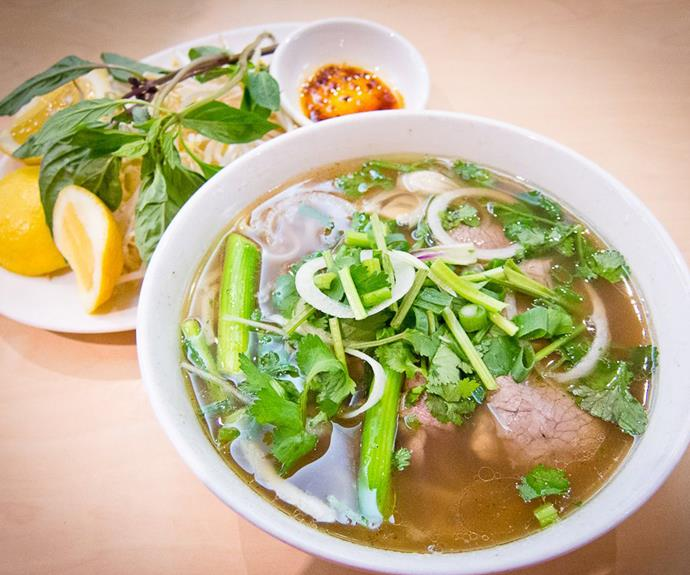 A bowl of phở at An Restaurant in Sydney's Bankstown.