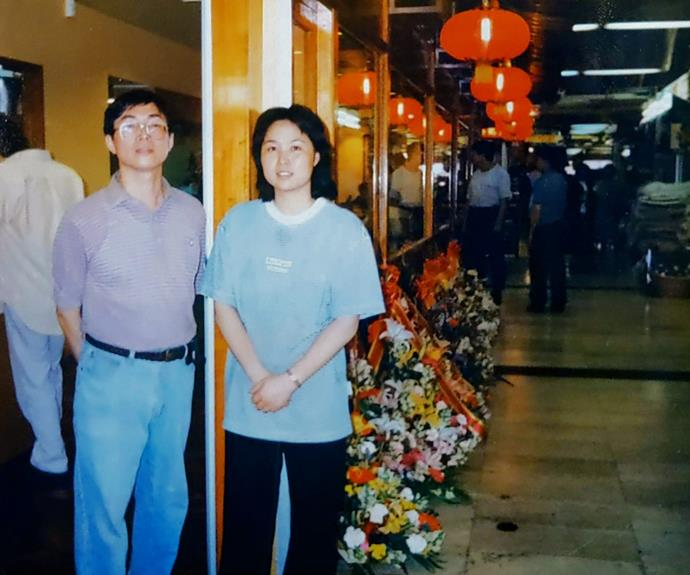 Alan Chu's parents, the late Paul Chu, and his mother Aileen Chu, at the 1995 opening of Mother Chu's in Sydney's Chinatown.