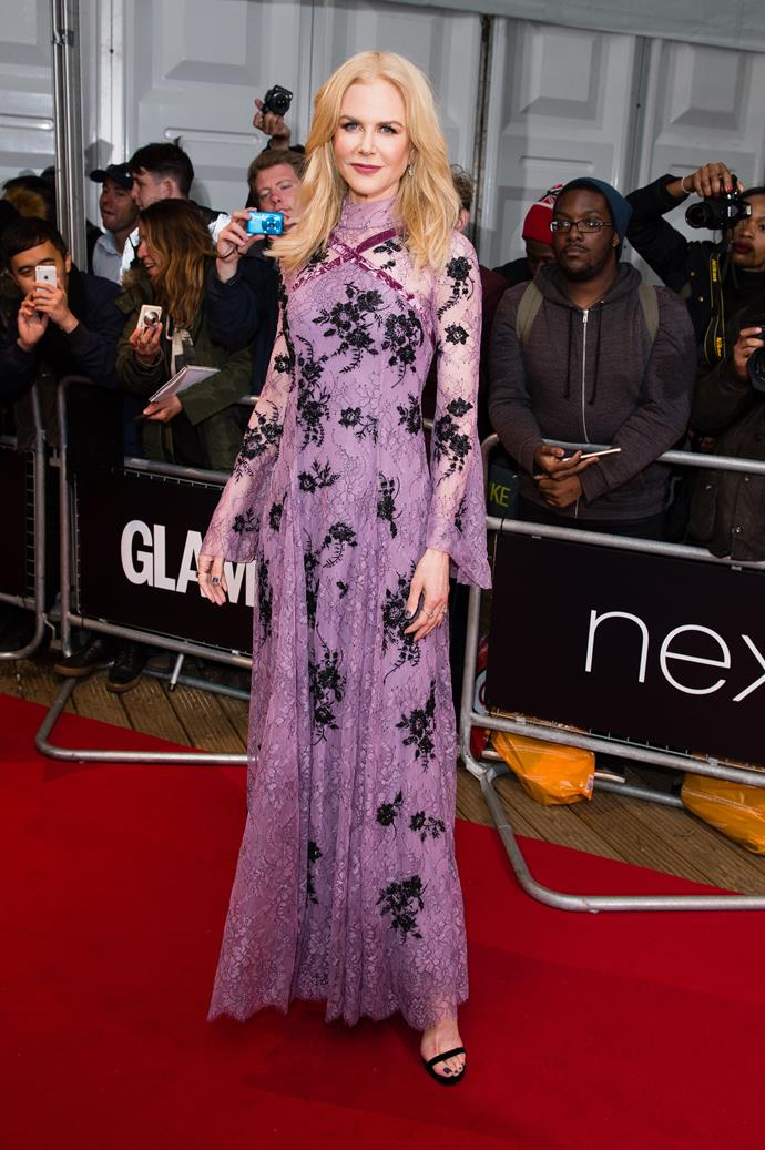 7 June, 2017.  Nicole impressed the fashion crowd when she stepped out on two red carpets in two different countries, the CFDA Awardss in New York and the *Glamour* Women of The Year awards in London, in less than 24 hours.