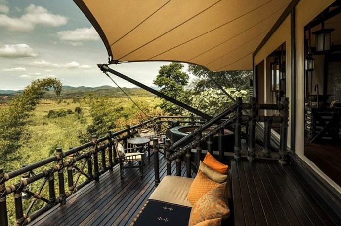 "**FOUR SEASONS TENTED CAMP GOLDEN TRIANGLE** <br><br> Chiang Rai, Thailand, [fourseasons.com](http://www.fourseasons.com/goldentriangle/|target=""_blank"") <br><br> Choose from one of the hotel's 10 packages that all truly define the term ""all-inclusive."" Each option provides meals and alcoholic beverages, a 90-minute spa treatment per person, access to the in-room bar, nightly wine and cheese tastings, nightly drinks at Burma Bar, an excursion on the Mekong River, training with elephants, and round-trip airport transfers. Is that all? No—depending on your choice, an elephant ride, a visit to the Hall of Opium, or a visit to Myanmar may also be included in your package.  <br><br> *Prices starting at approx. $3,275 + 18.7% per night, per couple.*"