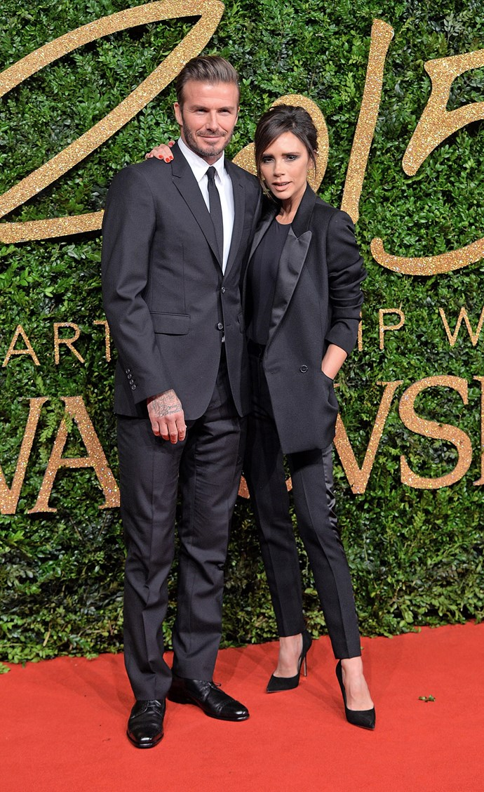 Sharp suit matching.