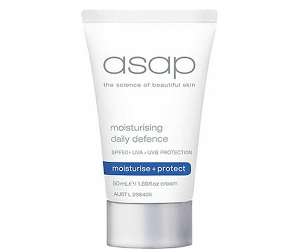 **Top seller at Adore Beauty**   Asap Moisturising Daily Defense SPF50, $29, at [Adore Beauty](https://www.adorebeauty.com.au/asap/asap-moisturising-daily-defense-spf30-50ml.html)
