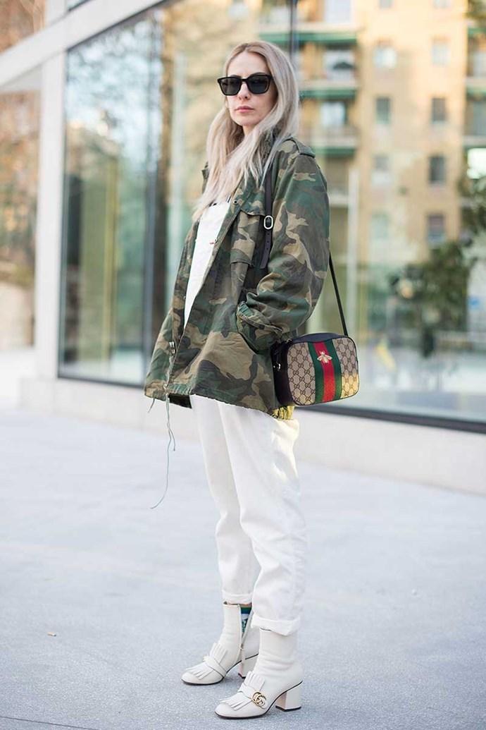 Street style at Milan fashion week F/W '18