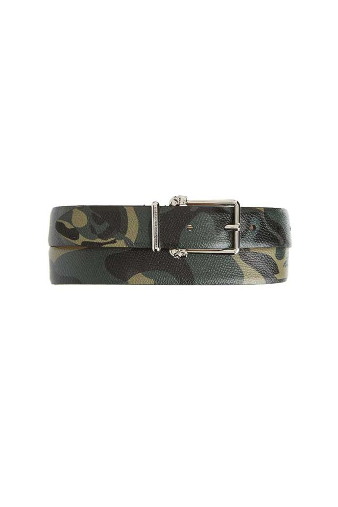 Belt, $525, Alexander McQueen from [Nordstrom](http://shop.nordstrom.com/s/alexander-mcqueen-camo-leather-belt/4657480?origin=keywordsearch-personalizedsort&fashioncolor=BLACK%2F%20MILITARY)