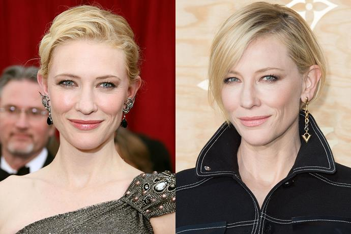 **Cate Blanchett** in 2007 and 2017.
