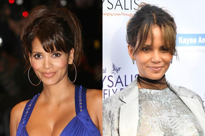 **Halle Berry** in 2007 and 2017.